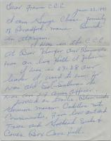 George Chase Letter on CCC, Brownville Junction, 1991