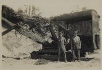 Civilian Conservation Corps gravel pit at Mt. Bigelow, Flagstaff, ca. 1935