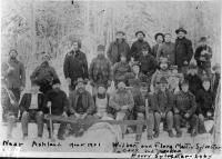 Crew with Sylvesters, near Ashland, 1900