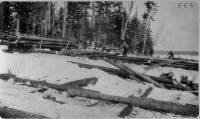 Landing, logging, Maine