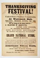 Sanitary Commission festival poster, Wiscasset, 1863