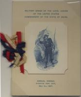 MOLLUS annual dinner program, Portland, 1897