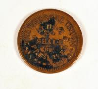Civil War token, ca. 1863