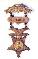 Holman Melcher GAR badge, Portland, ca. 1870