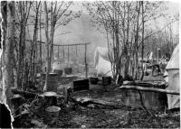River drive kitchen, Maine woods