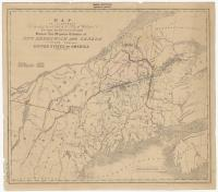 Treaty of Washington boundary map, 1842