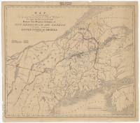 Treaty of Washington boundary map, 1842