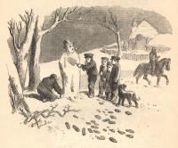 Children building a snowman, 1852