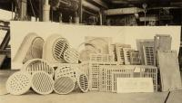 Manhole covers, Portland Company, ca. 1900