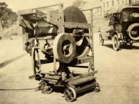 Bean snipping machine, Portland, ca. 1920