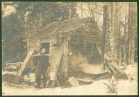 Fred Johnson sugaring, Waterford, ca. 1910