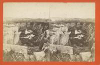 Cedar Street Quarry at Blackington's Corner, Rockland, ca. 1875