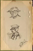 Self-portrait sketches, Charles D. Sigsbee