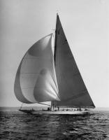 America's Cup defender 'Ranger' under sail, 1937