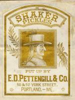 E.D. Pettengill Company Trademark for Shaker Pickles