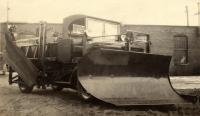 Truck with Sargent plow, Portland, ca. 1920