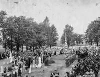Celebration at Civil War Monument, Presque Isle, 1945