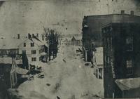 Looking east on Russell Street, Skowhegan, ca. 1900