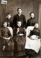 Holiday crew of the Bixby & Buck Store, Skowhegan, ca. 1885