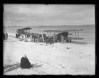 Biplanes on the beach, ca. 1920