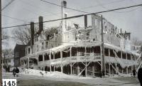 Hotel Coburn ruins, Skowhegan, 1918