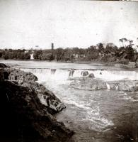 Skowhegan Falls from North Channel Bridge, ca. 1888
