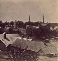 Rooftops over Skowhegan Island, ca.1875