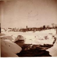 Skowhegan's North Channel Falls after the blizzard of 1895