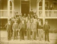 Group in Front of Hotel Coburn, about 1895