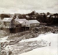 Head of Skowhegan Island, from Elm Street, about 1870