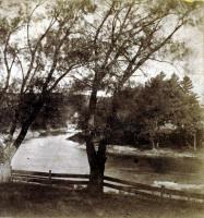 South Channel, looking north, Skowhegan, ca. 1865