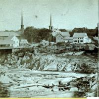 Skowhegan Island, from Elm Street, ca. 1875