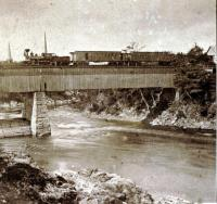 Railroad Bridge, Skowhegan, ca. 1870