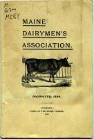 Maine Dairymen's Association constitution, 1898