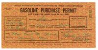 Gas ration permit