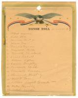Honor Roll, Norway Grange, 1945