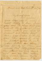 John Sheahan letter from Belle Plain, Virginia, 1863