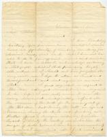 Letter from Ira E. Getchell to Ellen Forbes, Nov. 23, 1862