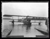 Biplane in Maine in the 1920s