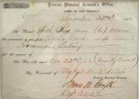 Civil War Army Pass