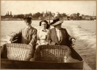 Cruising off Squirrel Island, Boothbay Harbor, 1912