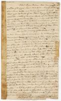 Robert Pagan deposition about Doccas Island fort, 1797