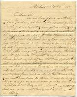 Letter from Benjamin Mathes Jr. to Samuel L. Lewis, 1835