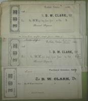 Receipts from the D.W. Clark & Co. , 1859, 1861, and 1869