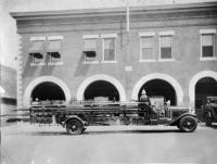 Mack Ladder city service truck, Presque Isle, ca. 1931