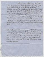 Contract for shipbuilding, Samuel M. Knight, 1854