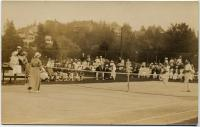 Mixed Doubles Tennis Match, Squirrel Island, ca. 1911