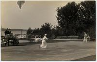 Women's tennis match, Squirrel Island, ca 1915