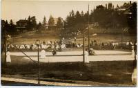 Women's tennis match, Squirrel Island, ca. 1905