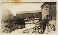 Covered bridge, Machias, 1932